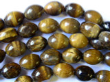 Tiger Eye Irregular Barrel Gemstone Beads 15mm (GS1812)