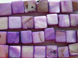Purple Square Tabular Shell Beads 10mm (SH184)