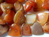 "Old Carnelian Agate Spade Beads - 50"" strand (OS71)"
