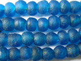 Blue Recycled Glass Beads 10mm - Africa (RG66)