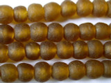 Amber Gold Recycled Glass Beads 12-15mm - Africa (RG70)