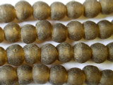 Smokey Brown Recycled Glass Beads 12mm - Africa (RG85)