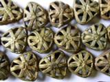 Ornate Brass Triangular Beads 20mm - Ghana (ME138)