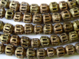 Ornate Brass Round Beads 12mm - Ghana (ME143)