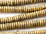 Brass Disc Beads 8-10mm - Cameroon (ME144)