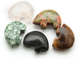 Carved Stone Bear Beads - set of 5 (AP742)