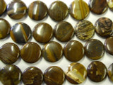 Iron Zebra Jasper Round Tabular Gemstone Beads 16mm (GS1928)