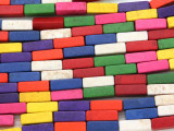 Multi-Color Magnesite Rectangular Tube Beads 12mm (GS1878)