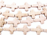 Natural Magnesite Cross Gemstone Beads 15mm (GS1885)