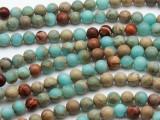Aqua Terra Jasper Round Gemstone Beads 6mm (GS1939)