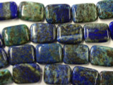 Azurite Rectangular Tabular Gemstone Beads 20mm (GS1958)