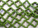 Green Magnesite Moroccan Ring Beads 20mm (GS1914)