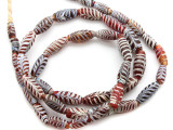 Old Red Feather Beads (RF106)