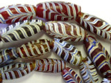 Old Red Feather Beads (RF108)