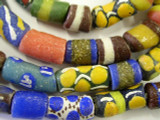 Colorful Painted Sandcast Glass Beads (SC631)
