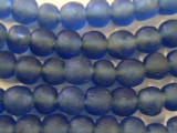 Blue Recycled Glass Beads 12-15mm - Africa (RG116)