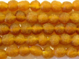 Orange (dark) Recycled Glass Beads 10mm - Africa (RG118)