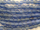 Light Blue Recycled Glass Beads 13mm - Africa (RG121)