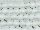 Frosty Clear Recycled Glass Beads 14mm - Africa (RG122)