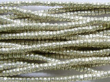 Silver Metal Spacer Disc Beads 3-4mm - Ethiopia (ME176)