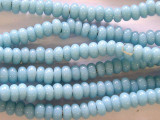 Baby Blue Rondelle Glass Beads 5-7mm (JV510)