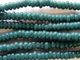Dark Teal Rondelle Glass Beads 5-7mm (JV511)