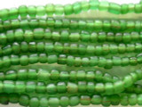 Transparent Green Glass Beads 4-6mm (JV571)