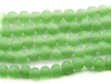 Celadon Green Round Glass Beads 6-7mm (JV492)