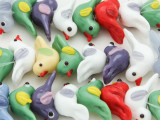 Multi-Color Bird Lampwork Glass Beads 10-22mm (LW1332)