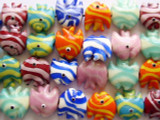 Fish Lampwork Glass Beads 18mm (LW1290)