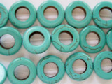 Turquoise Magnesite Ring Beads 20mm (GS1971)