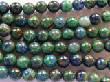 Azurite Round Gemstone Beads 8mm (GS2015)