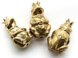 Royal Frog Brass Pendant - Indonesia 46mm (AP835)