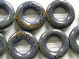 Ring 26mm - Glazed Purple Porcelain Beads (PO355)
