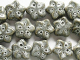Star 20mm - Glazed Gray Porcelain Beads (PO267)