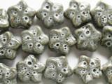 Star 20mm - Glazed Gray Porcelain Beads (PO267)