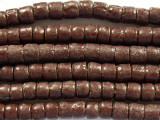 Brown Sandcast Glass Beads 7mm (SC781)