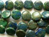 Azurite Round Tabular Beads 16mm (GS2148)
