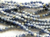 Sodalite Round Gemstone Beads 4-5mm (GS2196)