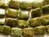 Alligator Skin Jasper Rectangular Tabular Gemstone Beads 20mm (GS2159)
