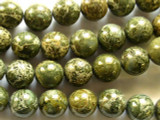 Alligator Skin Jasper Round Gemstone Beads 14mm (GS2173)