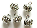 Pewter Bead w/Bail - Flower 13mm (PB171)