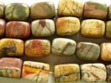 Red Creek Jasper Irregular Block Gemstone Beads 15mm (GS2238)