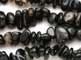 Black Agate Nugget Gemstone Beads 6-11mm (GS2246)