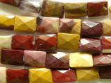 Moukaite Faceted Rectangular Tabular Gemstone Beads 14mm (GS2305)