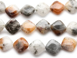 Rusty Quartz Square Tabular Gemstone Beads 21mm (GS2262)