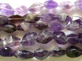 Amethyst Faceted Nugget Gemstone Beads 16mm (GS2263)