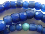Faceted Russian Blue Mixed Trade Beads (RF348)