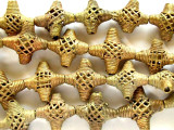 Ornate Cross Brass Beads 24-26mm - Ghana (ME253)