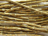 Brass Metal Tube Beads - Ethiopia 5-7mm (ME271)